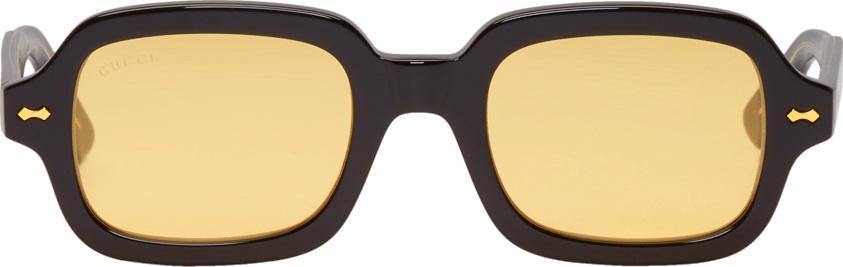 3ec856cf81 Gucci Black Acetate Rectangular Sunglasses - Mkt