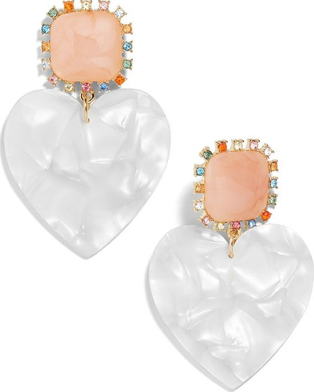 BAUBLEBAR Aerilyn Heart Drop Earrings, White