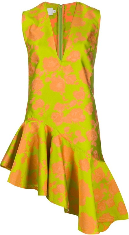 Marques'Almeida Asymmetric floral-print dress