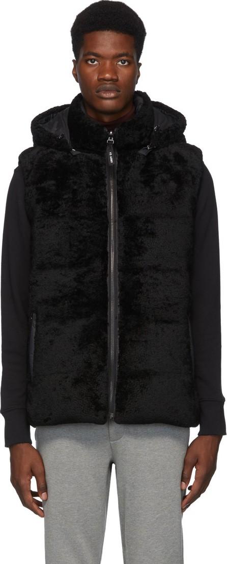 Army By Yves Salomon Reversible Black Merino Vest
