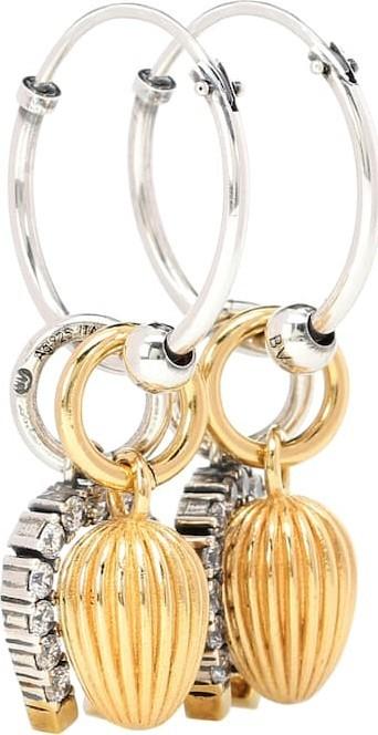 Bottega Veneta Sterling silver charm earrings