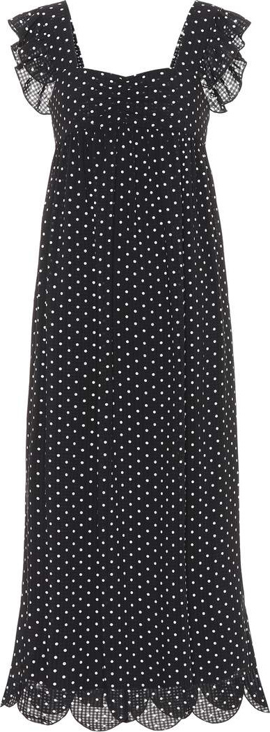 Alexachung Fifi polka-dot midi dress
