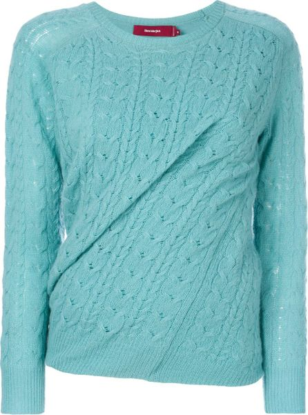 Sies Marjan Cable knit twisted jumper