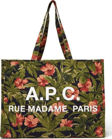 A.P.C. Mahée hibiscus-print cotton tote bag
