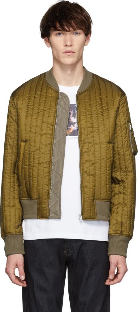 Helmut Lang Khaki Quilted Nylon Bomber Jacket