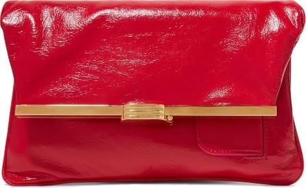 Bienen-Davis PM glossed textured-leather clutch