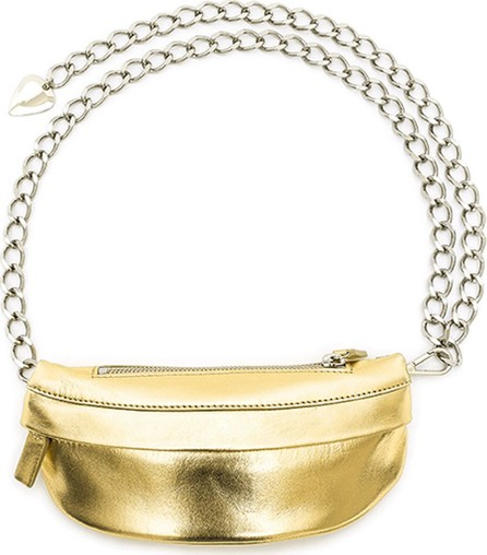 Avec La Troupe Metallic Leather Troupe Bag, Gold
