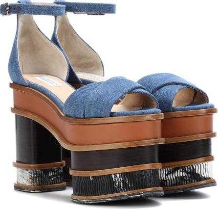Gabriela Hearst Charlie denim plateau sandals