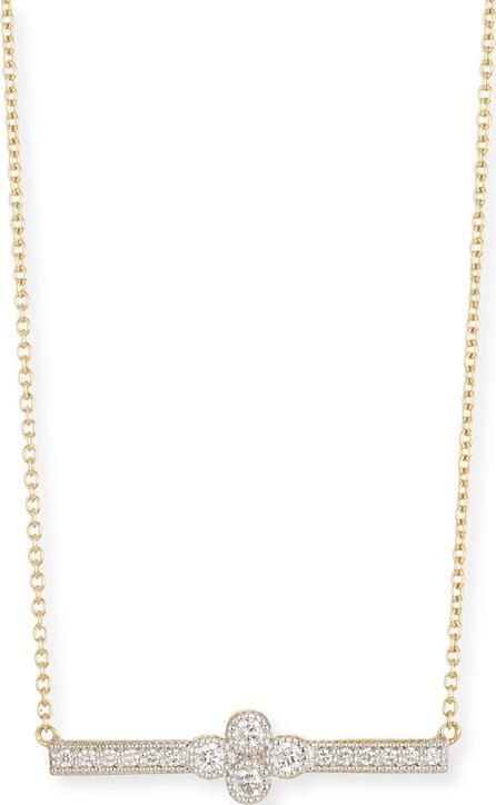 Jude Frances 18k Gold Provence Diamond Bar Station Necklace