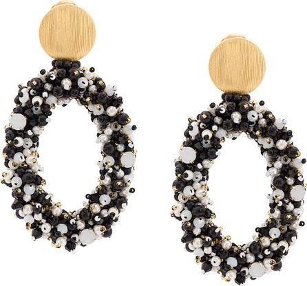 Carolina Herrera Beaded hoop earrings