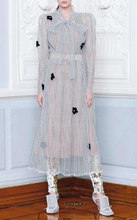Alena Akhmadullina Sheer Bow Midi Dress