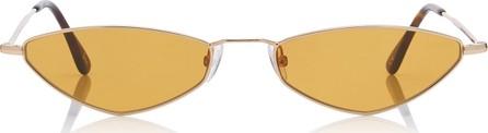 Andy Wolf Eyewear Eliza Sun Oval-Frame Metal Sunglasses