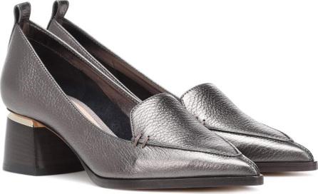 Nicholas Kirkwood Leather block heel loafers