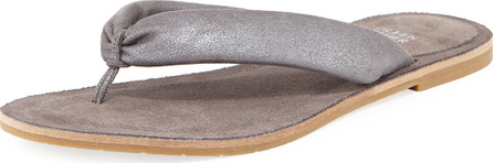 Eileen Fisher Flue Flat Metallic Leather Thong Sandal