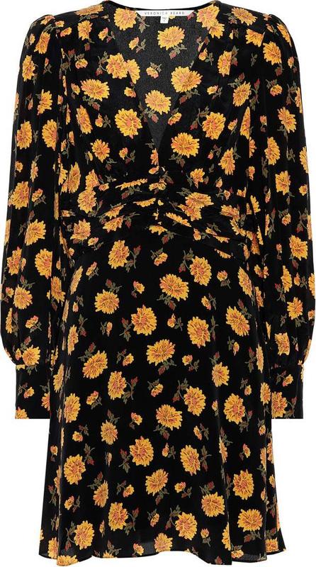 Veronica Beard Marion printed silk minidress