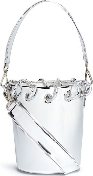 Angel Chen Mini ring mirror bucket bag
