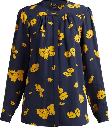 A.P.C. Serena floral-print crepe blouse