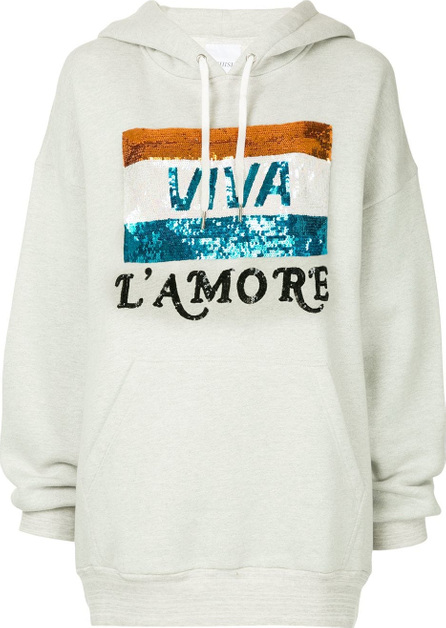 ASHISH Oversized sequined graphic hoodie