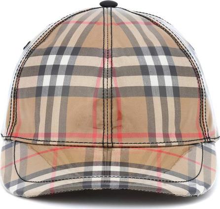 Burberry London England Coated checked baseball hat