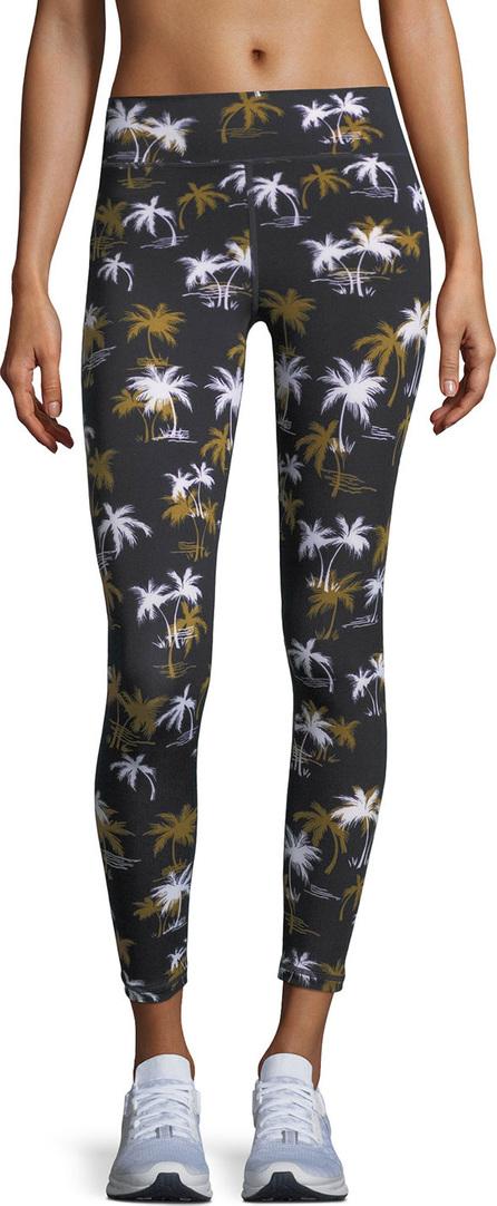 The Upside Acapulco Palm-Tree Print Ankle Leggings