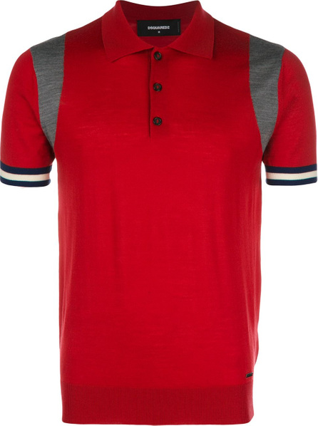 DSQUARED2 Contrast panel polo shirt