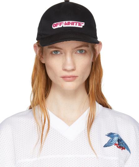 Off White Black Logo Cap