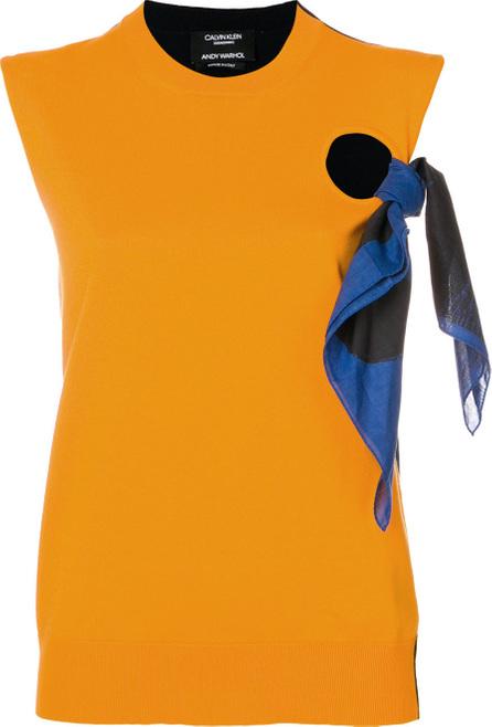Calvin Klein 205W39NYC Tie detail top