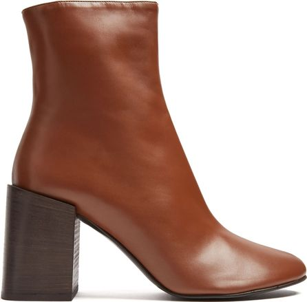 Acne Studios Saul square-heel leather ankle boots