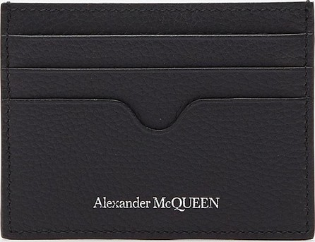 Alexander McQueen Logo print leather card holder