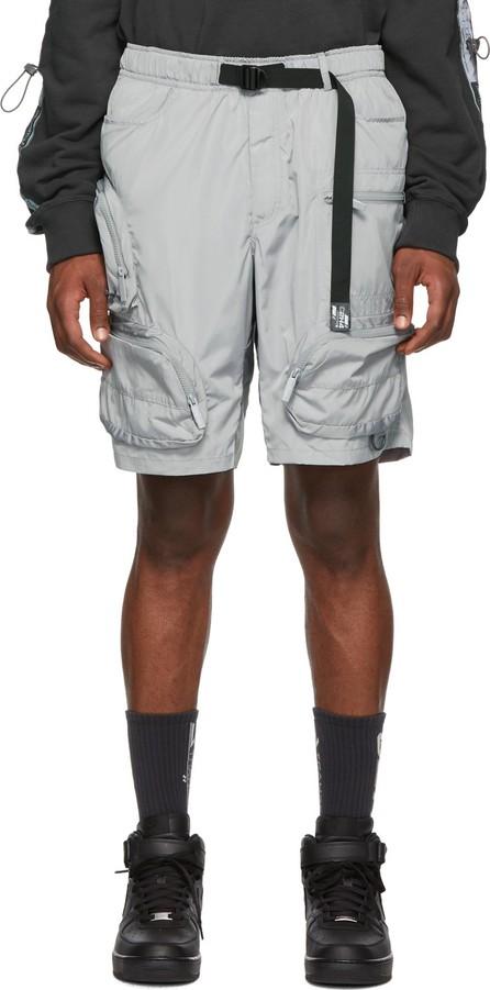 C2H4 Grey Utility Shorts
