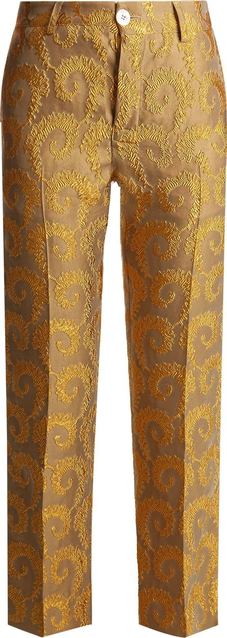 F.R.S For Restless Sleepers Arabesque straight-leg brocade trousers