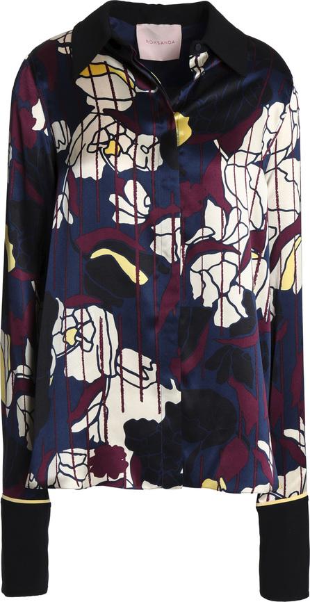 Roksanda Printed silk-satin shirt