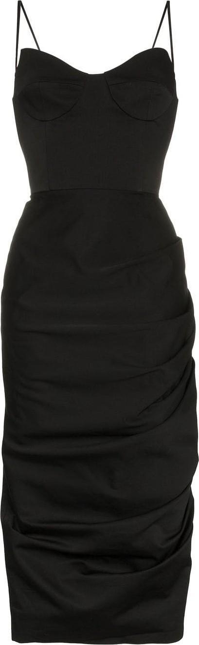 Aleksandre Akhalkatsishvili Strappy cotton corset dress