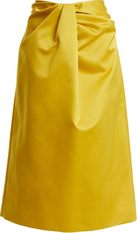 ROCHAS Twisted-front duchess-satin skirt