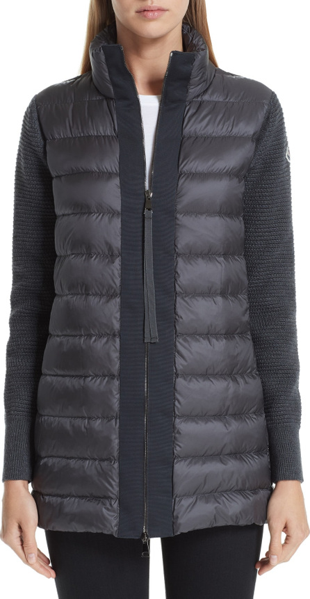 Moncler Maglione Quilted Down & Knit Cardigan