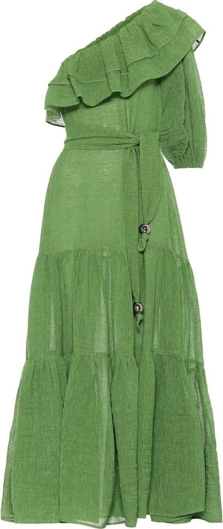 Lisa Marie Fernandez Arden linen-blend gauze maxi dress