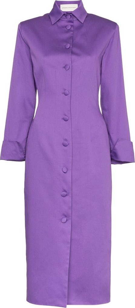 Aleksandre Akhalkatsishvili Button-detail cotton coat dress