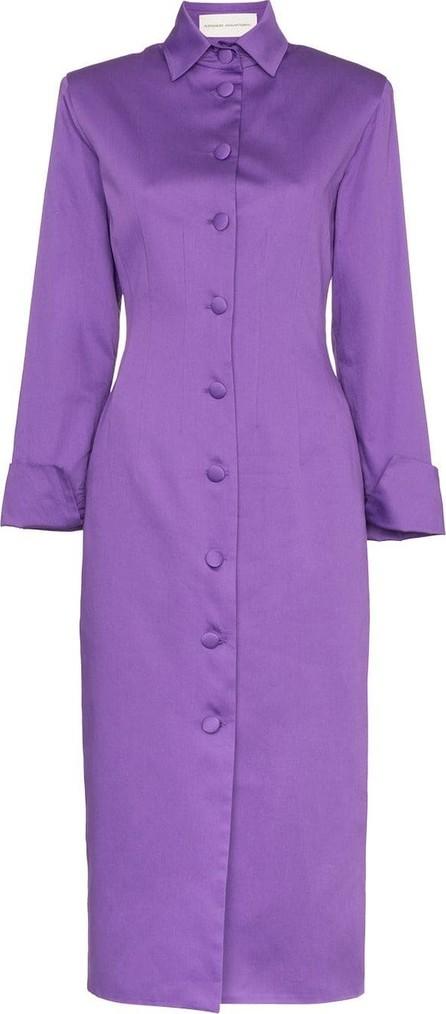 Aleksandre Akhalkatsishvili Button-detail cotton coat dress