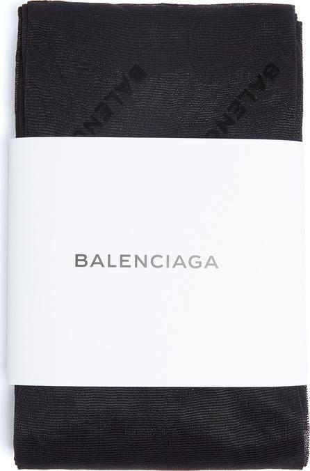 Balenciaga Flocked-logo tights
