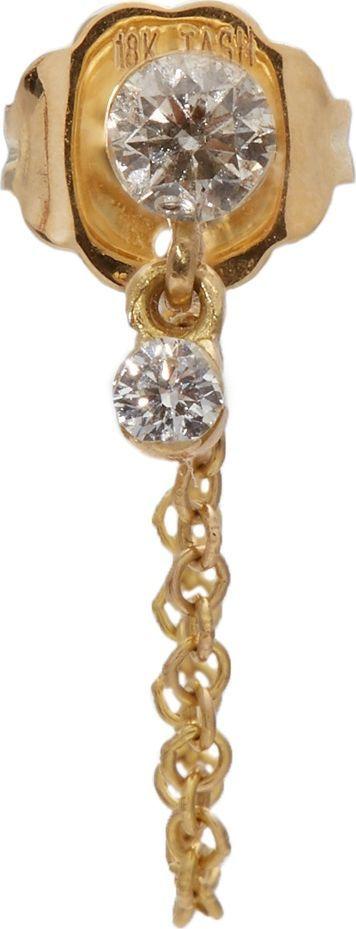 Maria Tash Diamond & yellow-gold single earring