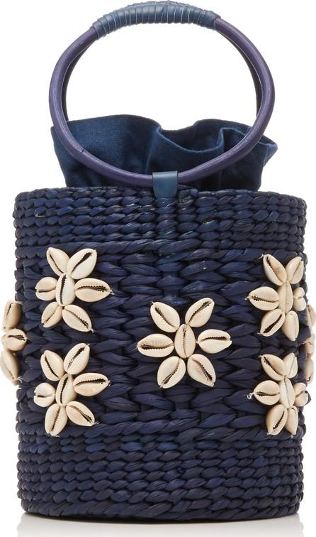 Poolside Bobbi Shell-Embellished Straw Tote