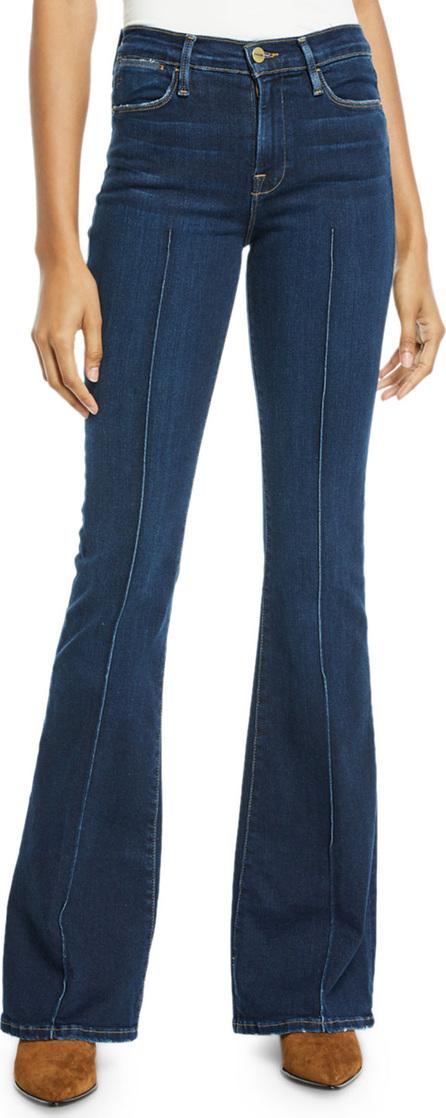 FRAME DENIM Le High Flare-Leg Pintuck Jeans