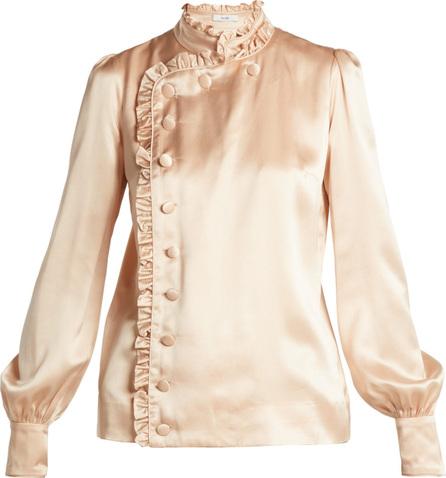 Erdem Edlyn ruffle-trimmed silk blouse