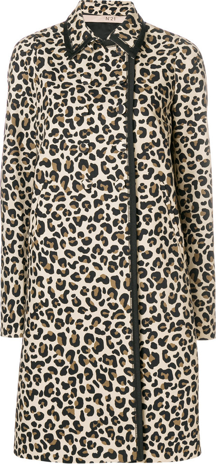 Nº21 Leopard print double-breasted coat