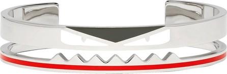 Fendi Silver 'Bag Bugs' Cuff Bracelet