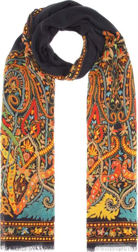 Etro Paisley cashmere-blend scarf