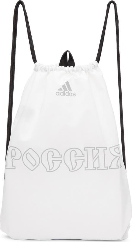 Gosha Rubchinskiy White adidas Originals Edition Drawstring Gymsack Backpack