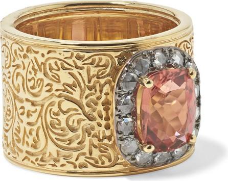 Larkspur & Hawk Emily's Garden Arbor 14-karat gold and rhodium-dipped tourmaline and diamond ring