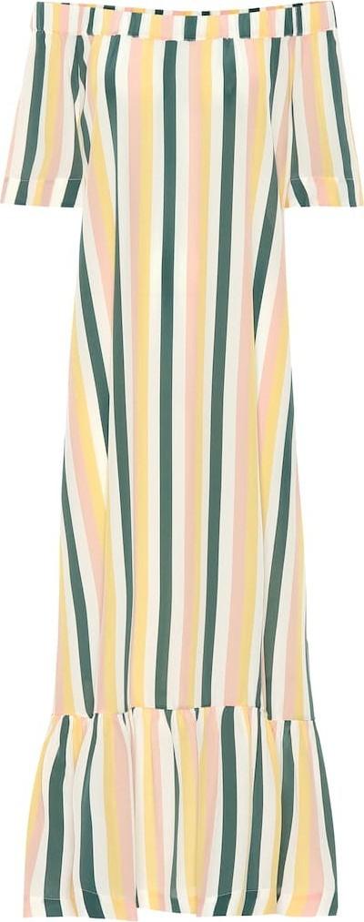 Asceno Off-the-shoulder silk dress