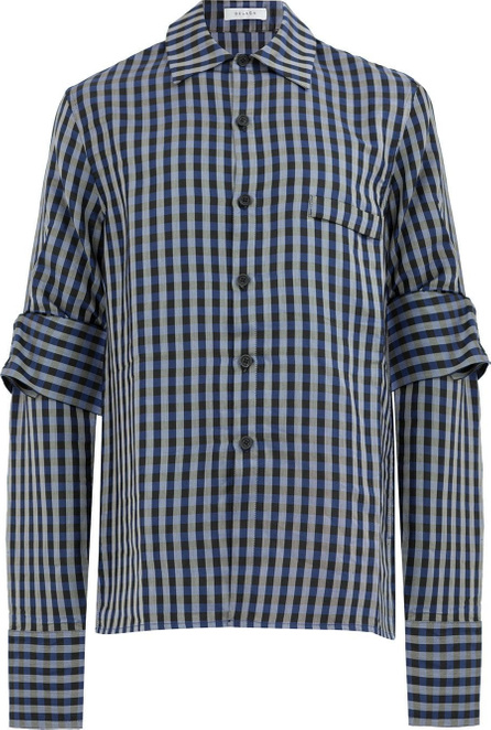 Delada Tie detail checked shirt